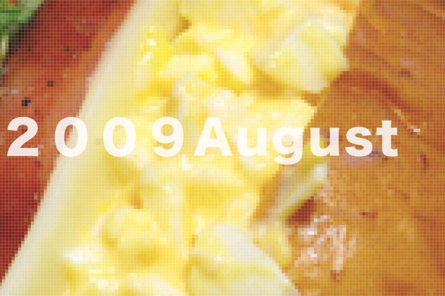 過去の弁当03「振り返る2009年8月」