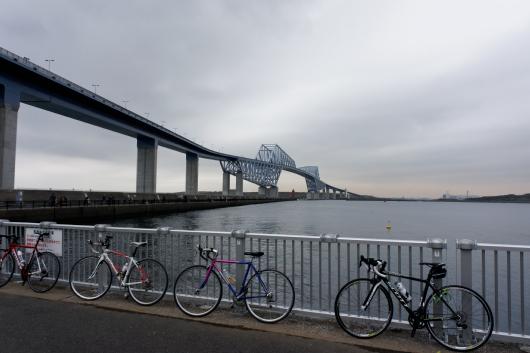 東京ゲートブリッジと自転車