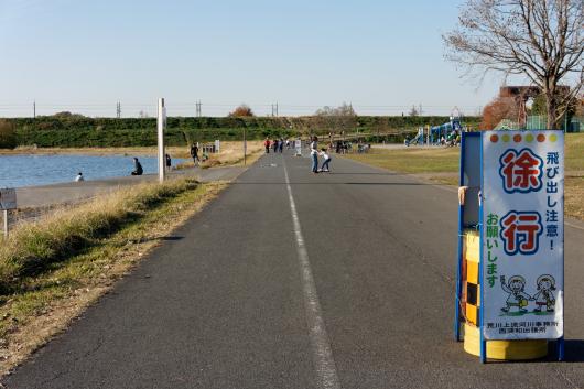 彩湖自転車走行