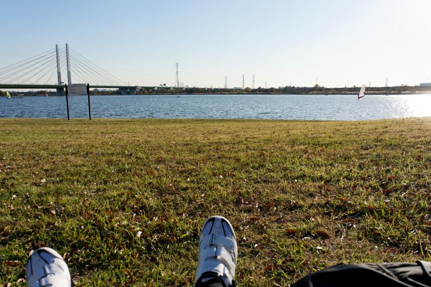 自転車乗りにオススメの彩湖を走る