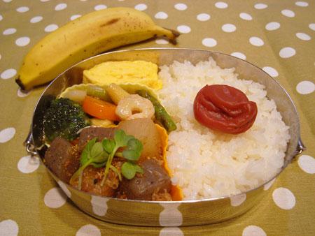 野菜ミックスとエビ炒め弁当