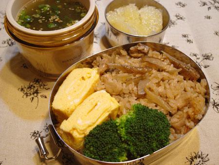 鶏ごぼうの炊き込みご飯弁当