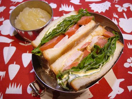 鶏ハムとクリームチーズサンド弁当