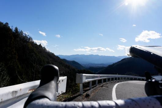 自転車で日野沢