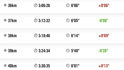 館山マラソン36kmから40kmラップ