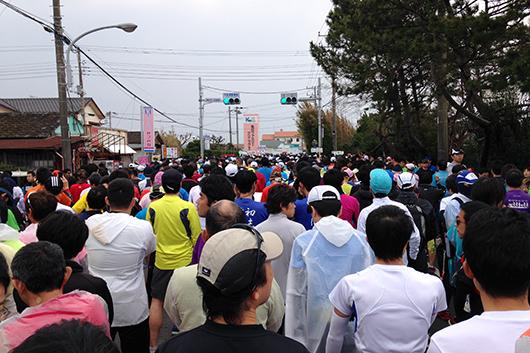 館山マラソンスタート直前