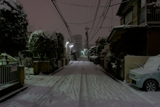 浦和周辺雪道
