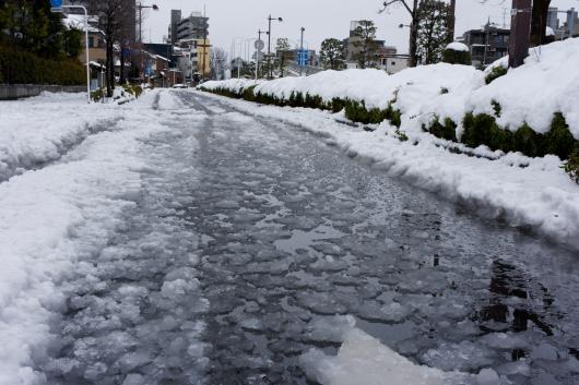 雪が溶けて川のよう