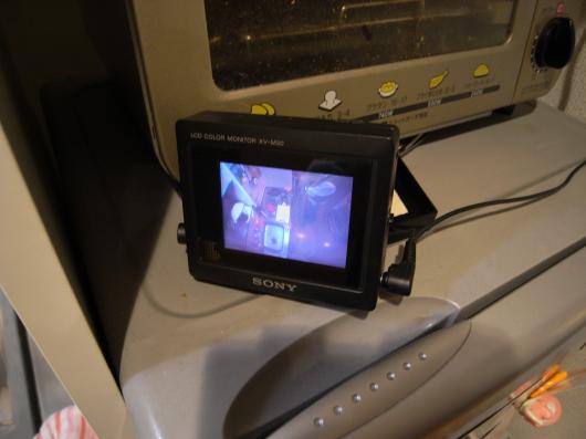キッチンカメラのモニター