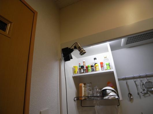 キッチンにカメラ