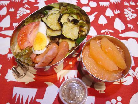 揚げ茄子サラダパスタ弁当
