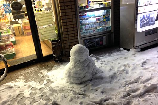 2014年2月8日雪だるま