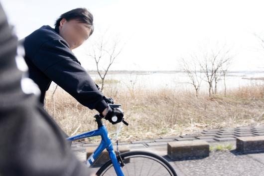渡良瀬遊水地サイクリング友人