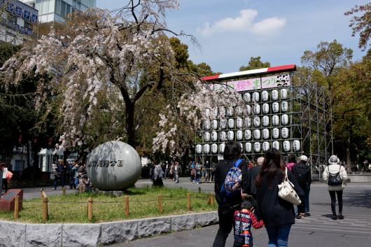 御徒町側から上野公園さくら
