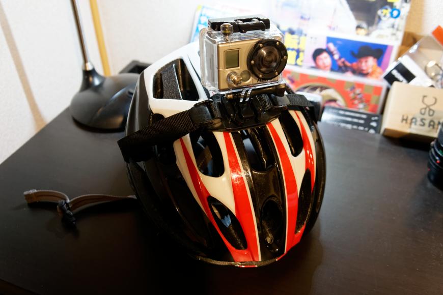 [動画] GoProを装着してロードバイクに乗ってみた
