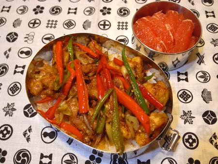 鶏肉の唐辛子炒め弁当