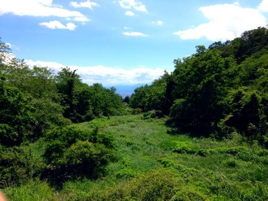 赤城山から前橋市内方面