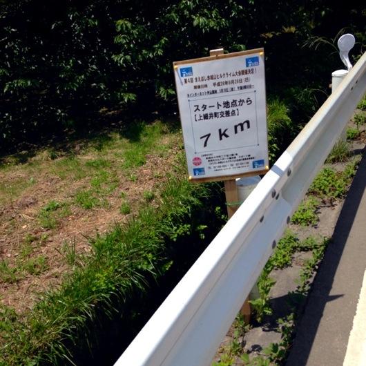 赤城山スタートから距離表示