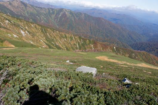 大朝日岳頂上付近