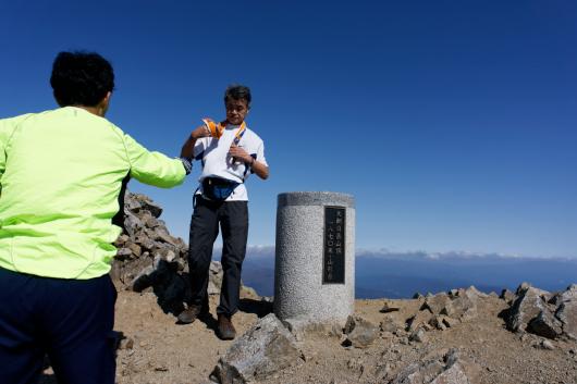大朝日岳頂上写真撮影