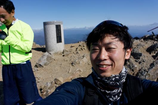 大朝日岳頂上セルフィー